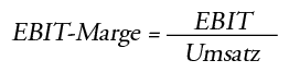 Formel EBIT Marge